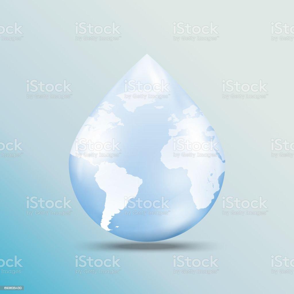 02world map on water drop shape stock vector art more images of world map on water drop shape royalty free 02world map on water drop gumiabroncs Gallery