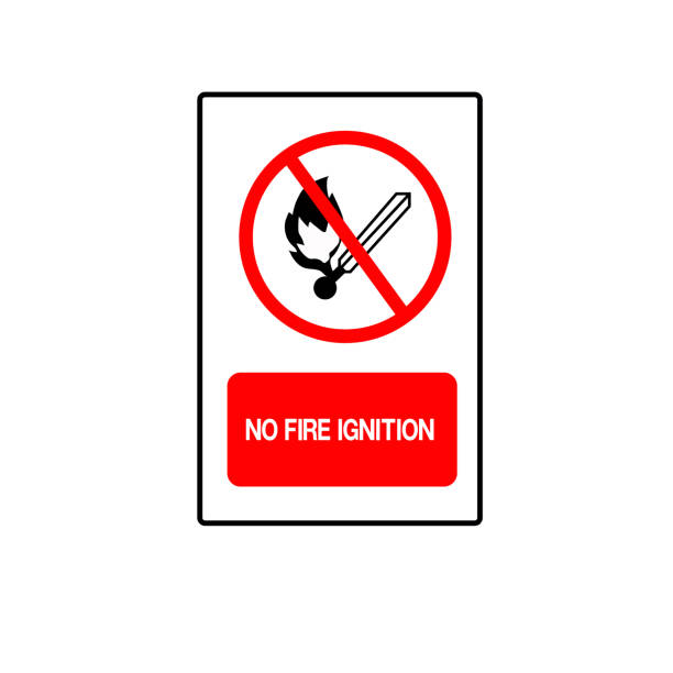 03-No Fire Ignition Symbol Sign, Vector Illustration, Isolate On White Background Label . vector art illustration