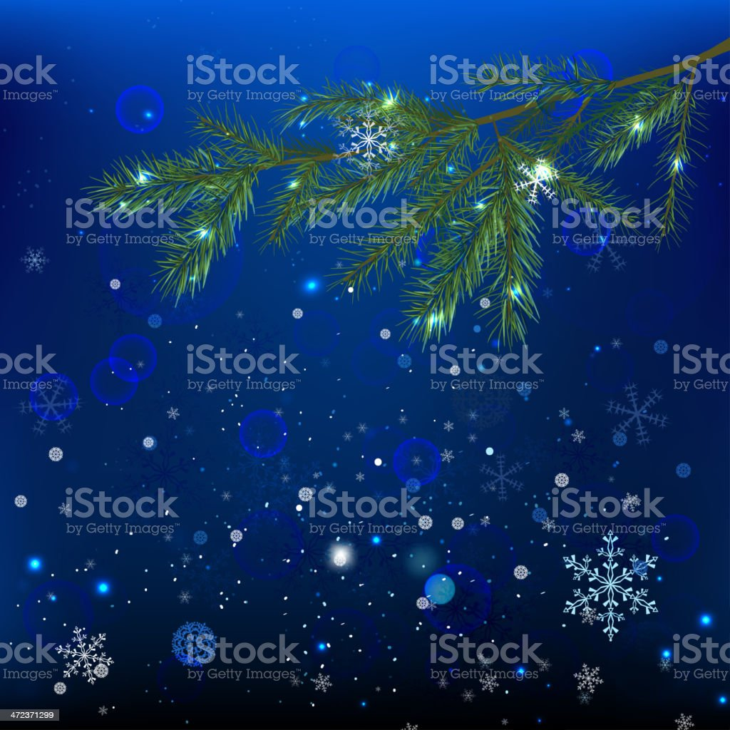 04_Snow branches royalty-free stock vector art