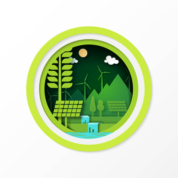 04.Green ecology and clean energy concept vector art illustration