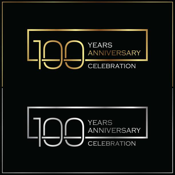 bildbanksillustrationer, clip art samt tecknat material och ikoner med 100: e år anniversary celebration bakgrund - nummer 100