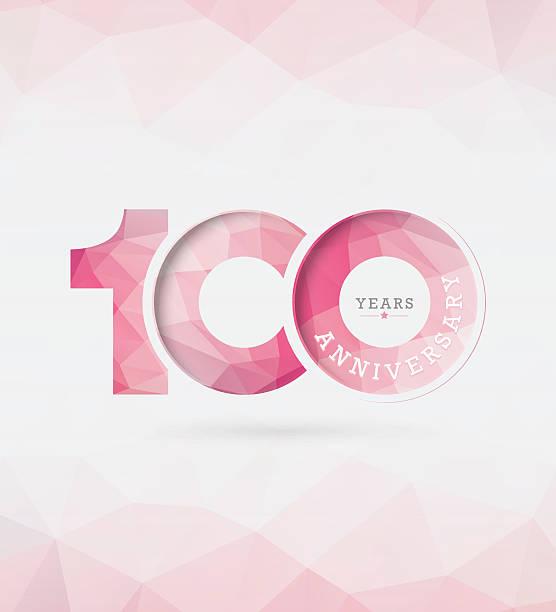 bildbanksillustrationer, clip art samt tecknat material och ikoner med 100th years anniversary template - nummer 100