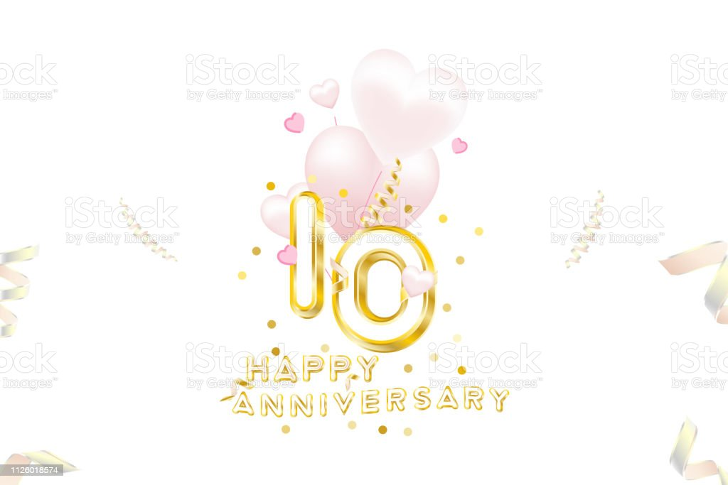10th Anniversary Gold Inscription With Original Numbers And