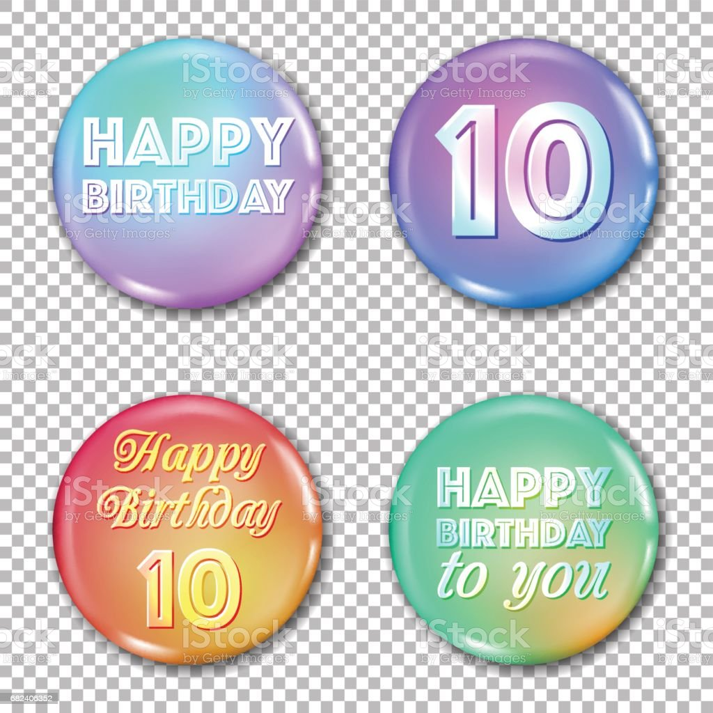 10th anniversary icons set. Happy birthday labels royalty-free 10th anniversary icons set happy birthday labels stock vector art & more images of 10th anniversary