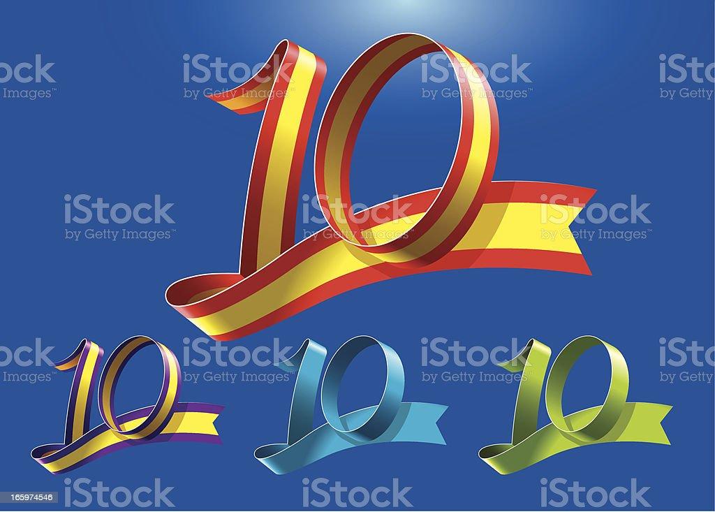 10th anniversary RibbonArt vector art illustration