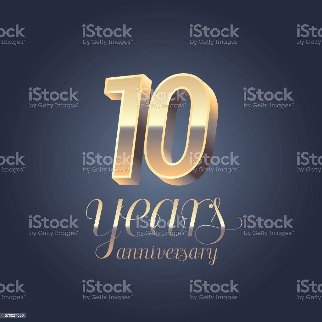 10th anniversary vector icon vector art illustration