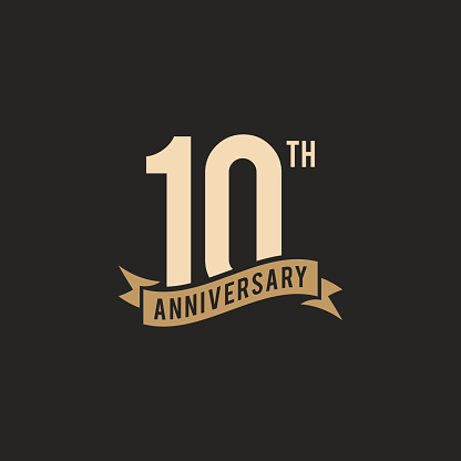 10th Years Anniversary Celebration Icon Vector Stock Illustration Design Template. Vector eps 10.