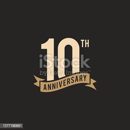 istock 10th Years Anniversary Celebration Icon Vector Stock Illustration Design Template 1277190551