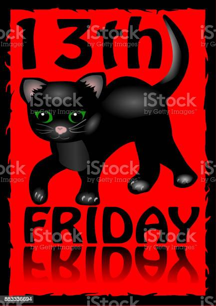 13th friday poster humorous flyer with a little black kitten cartoon vector id883336694?b=1&k=6&m=883336694&s=612x612&h=fe ikp 2c5tlt4rbbranksx xxf0bn4zvysc njqnms=