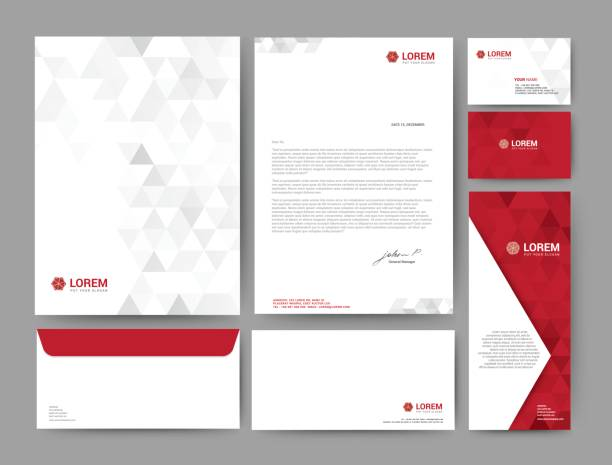 140-branding - stationery templates stock illustrations
