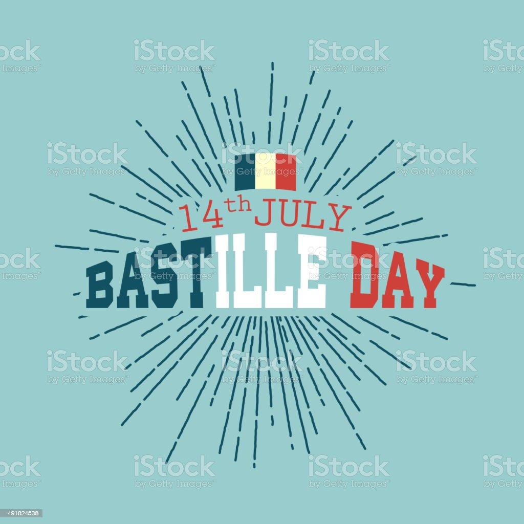 14 juillet, fond de jour heureux de la Bastille - Illustration vectorielle