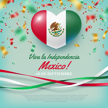 16th of September Viva La Independencia Mexico card