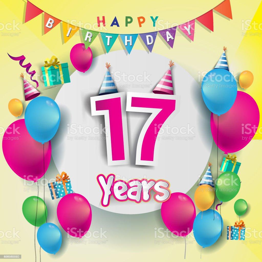 e födelsedagskort 17 E år Anniversary Celebration Födelsedagskort Eller  e födelsedagskort
