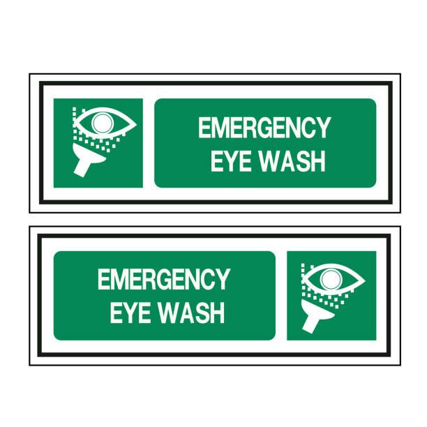 18-Emergency Eye Wash Symbol Sign, Vector Illustration, Isolate On White Background, Label ,Icon. EPS10 vector art illustration