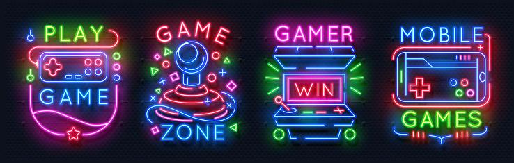 1902.m30.i030.n040.S.c12.795597250 Casino neon signs. Slot machine jackpot banners, poker bar night billboard, gambling roulette. Vector casino neon web banners_f