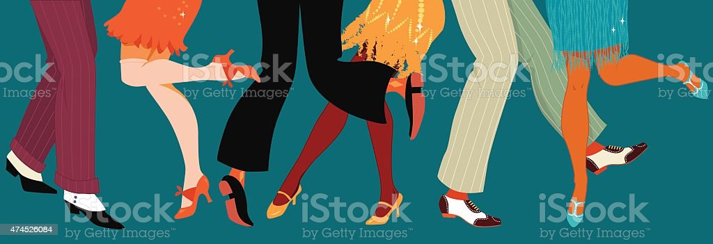 1920s style party vector art illustration