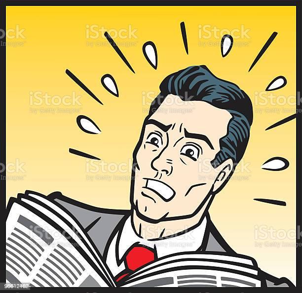 1950s Business Man In Panic-vektorgrafik och fler bilder på Affärsman