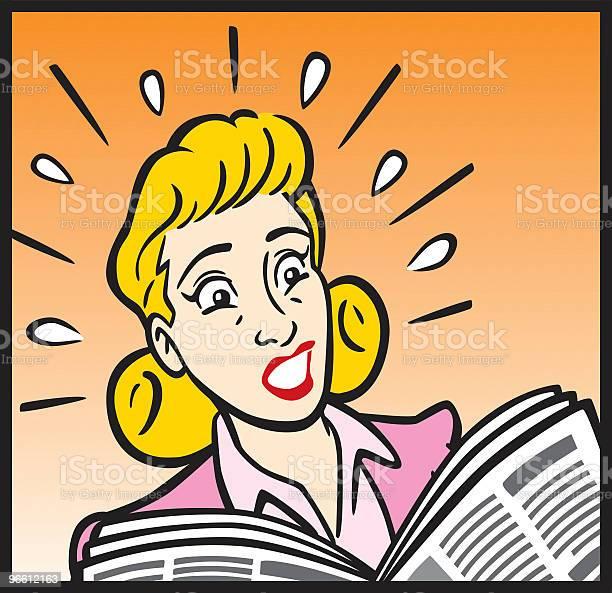 1950s Business Woman In Panic-vektorgrafik och fler bilder på Affärskvinna