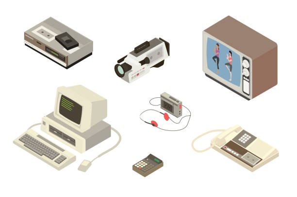 1980s Digital Equipment Illustration vector art illustration