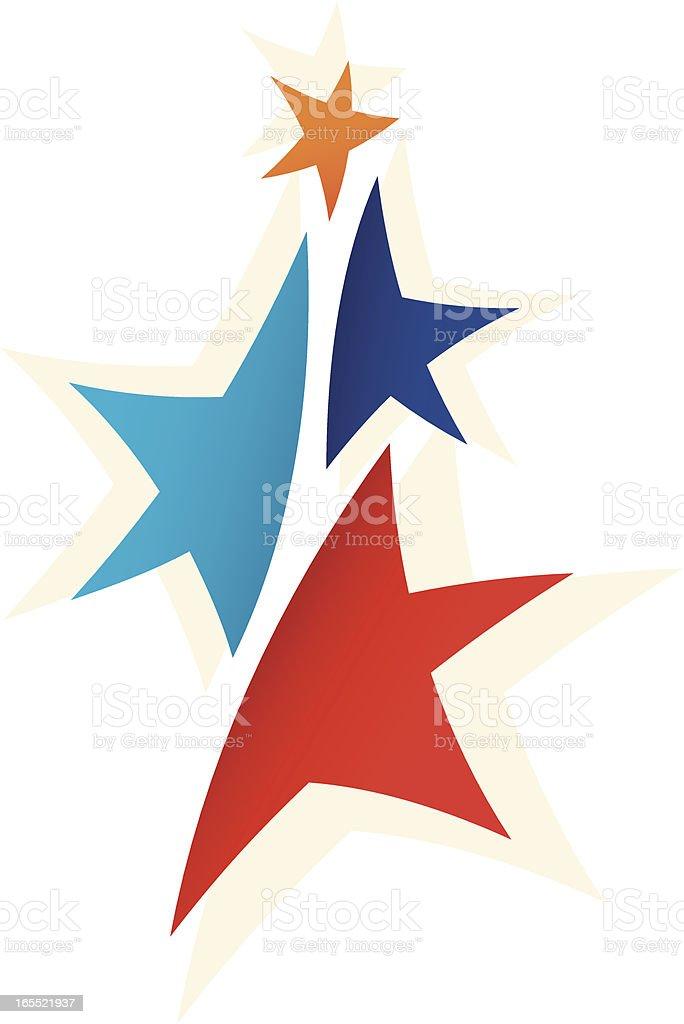 1-credit reaching the stars vector art illustration