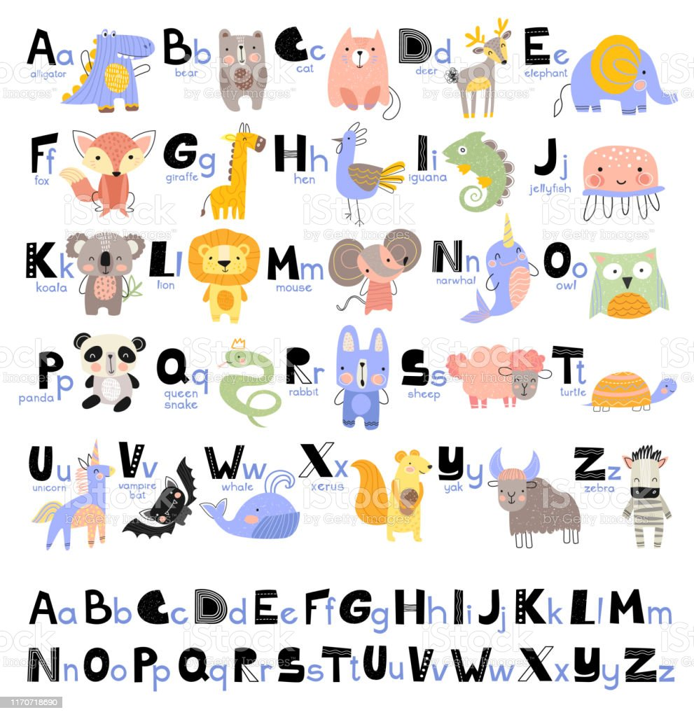 1funny Alphabet For Young Children With Names And Pictures ...