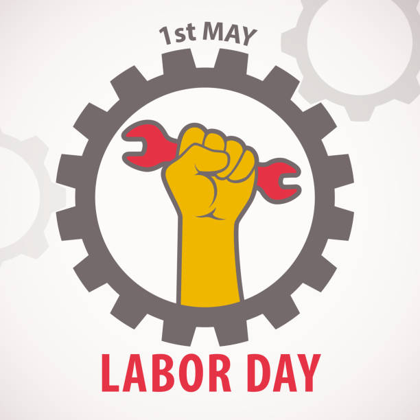 1st may labor day celebration - may day stock illustrations, clip art, cartoons, & icons