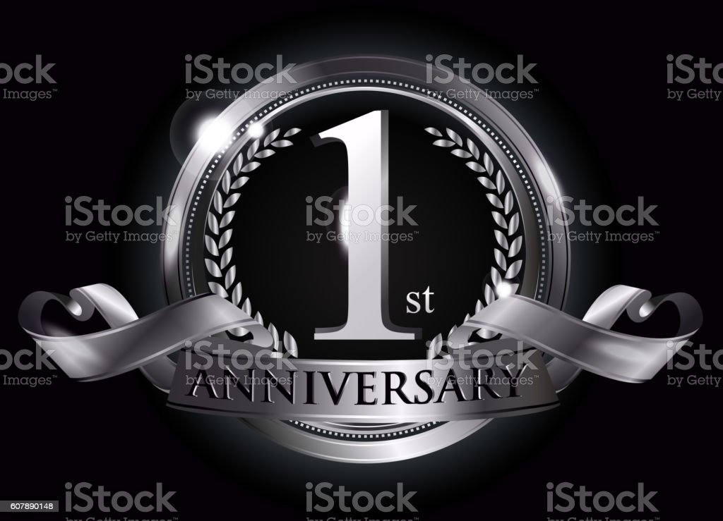 St silver anniversary logo stock vector art more images of