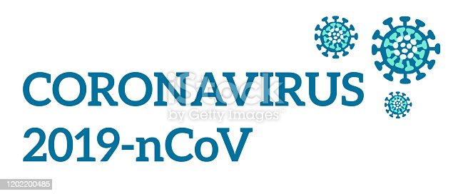 Chinese coronavirus 2019-nCoV. Inscription and vector drawing.