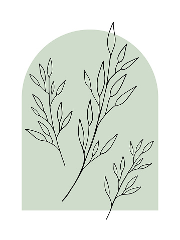 2021-259-vector-flower-04-leaves-outline-black-background-green-3500x4667px