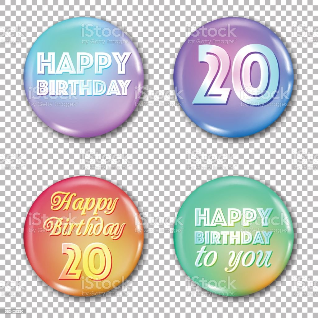 20th anniversary icons set. Happy birthday labels royalty-free 20th anniversary icons set happy birthday labels stock vector art & more images of 20th anniversary