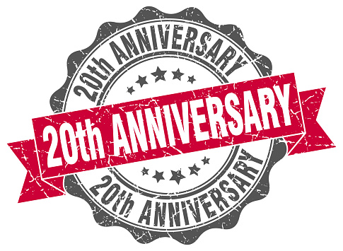 20th anniversary stamp. sign. seal