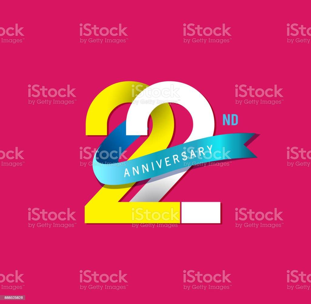 Ilustración de 22 Emblemas Simples De Aniversario Plantilla De ...