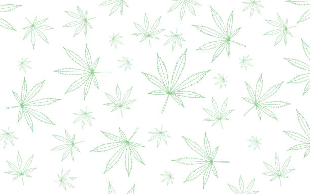 23-world map is made of green cannabis leaves. Abstract territorial plan in green color hues vector art illustration