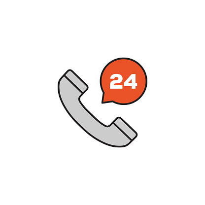 24h Support Modern Editable Stroke Line Icon