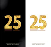 25th anniversary black and white cards.