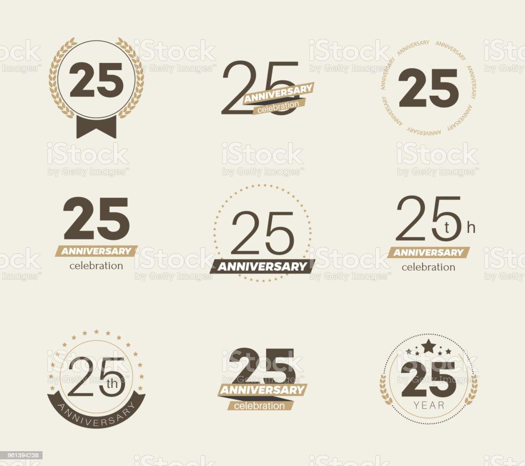 25th anniversary celebration  logo set.