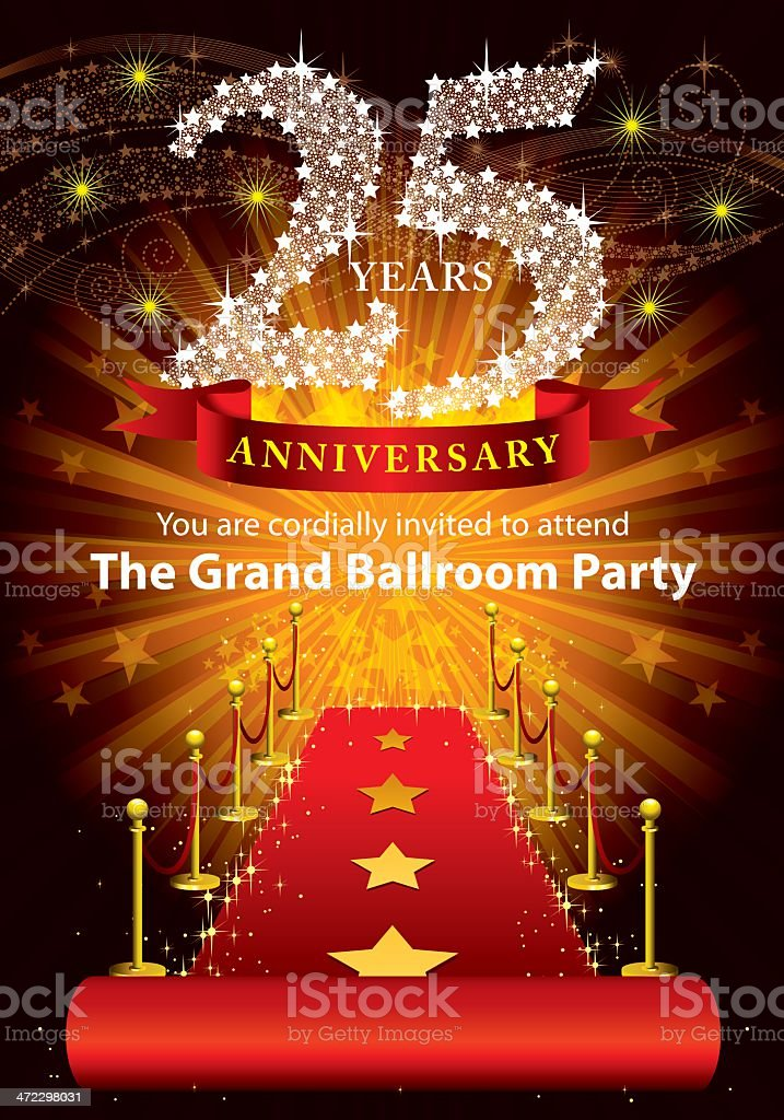 25th Anniversary Party royalty-free stock vector art