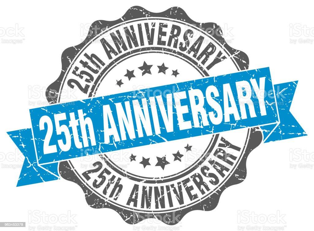 25 yıldönümü damgası. imzala. mühür - Royalty-free 25. yıl dönümü Vector Art