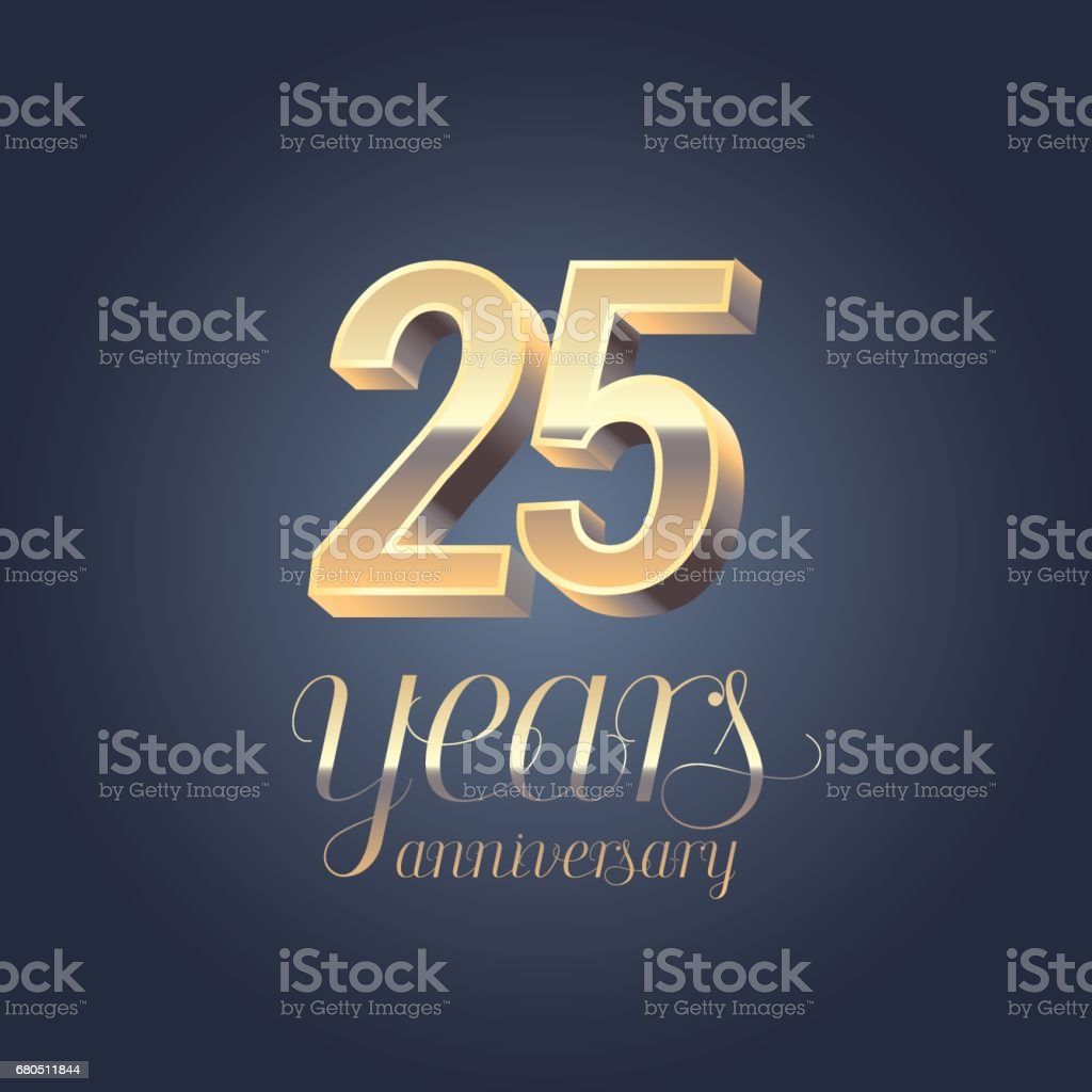 25. Jahrestag Vektor icon – Vektorgrafik