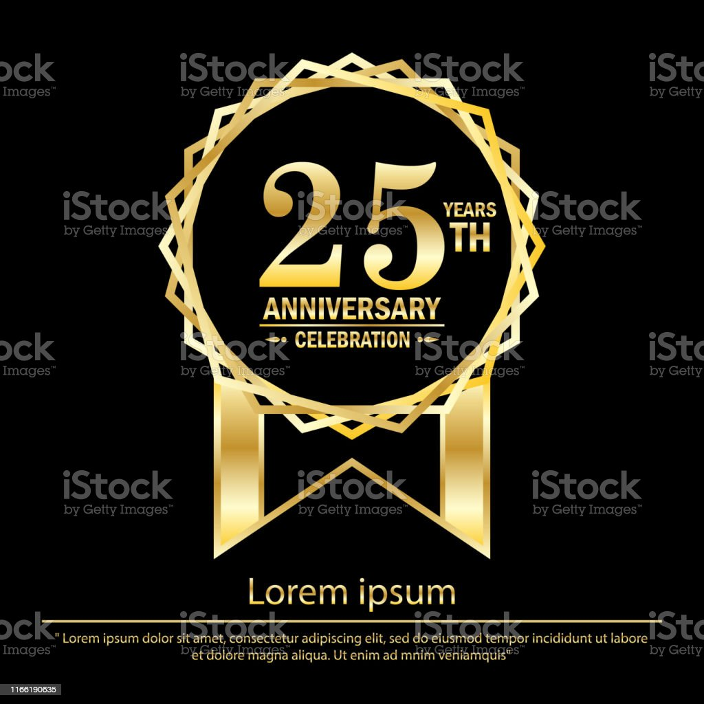 25th Years Anniversary Celebration Anniversary Logo With