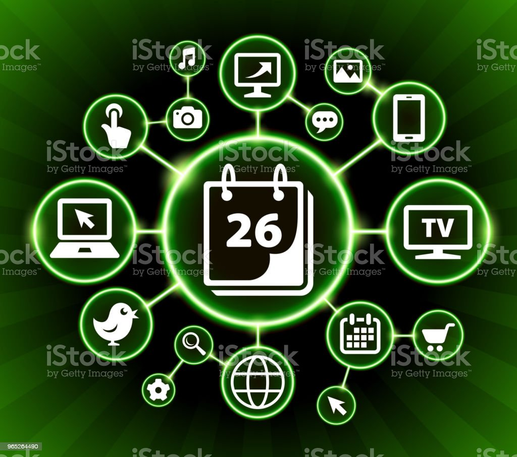 26th Calendar Date Internet Communication Technology Dark Buttons Background royalty-free 26th calendar date internet communication technology dark buttons background stock vector art & more images of backgrounds