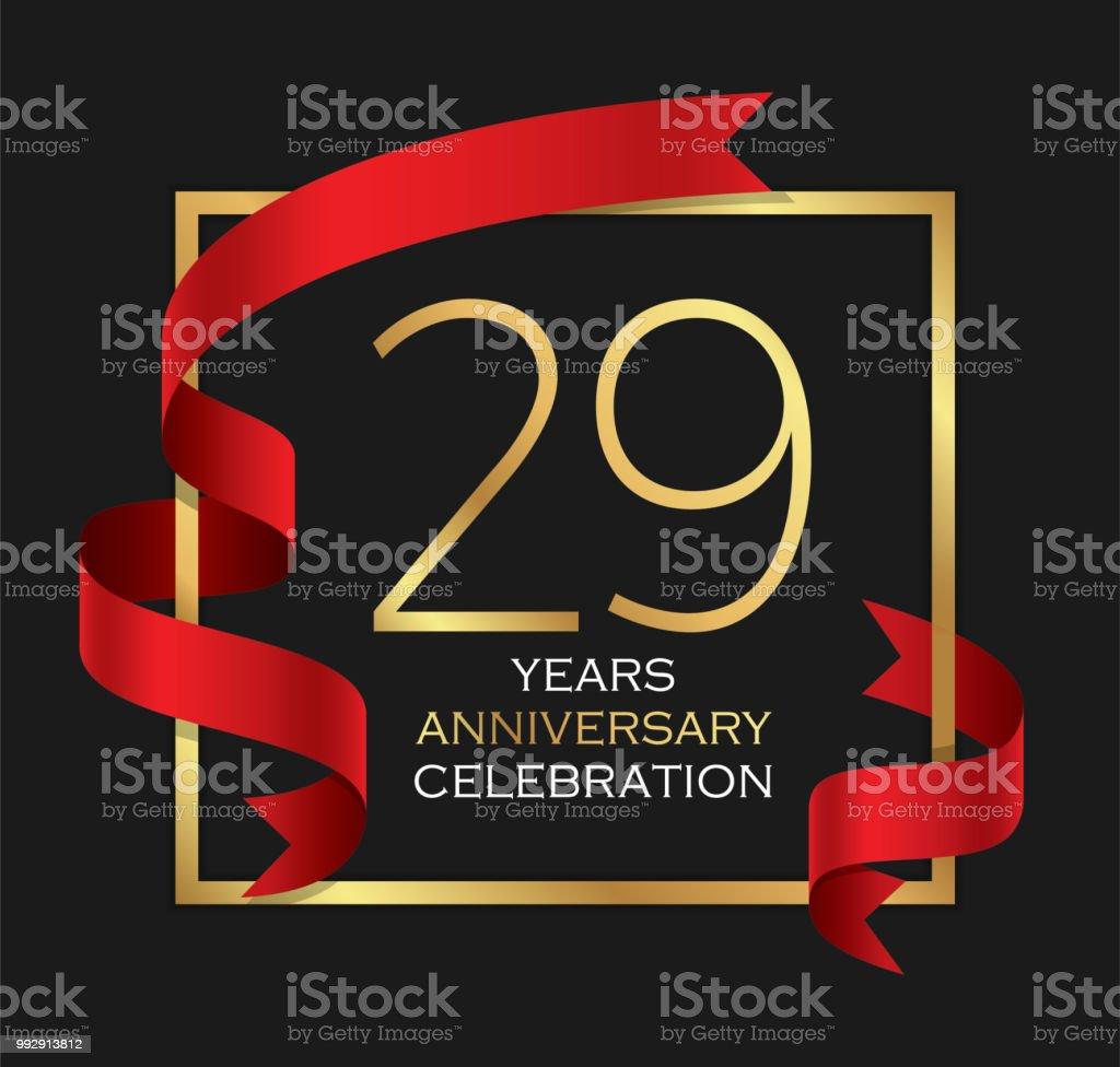 29th years anniversary celebration background vector art illustration