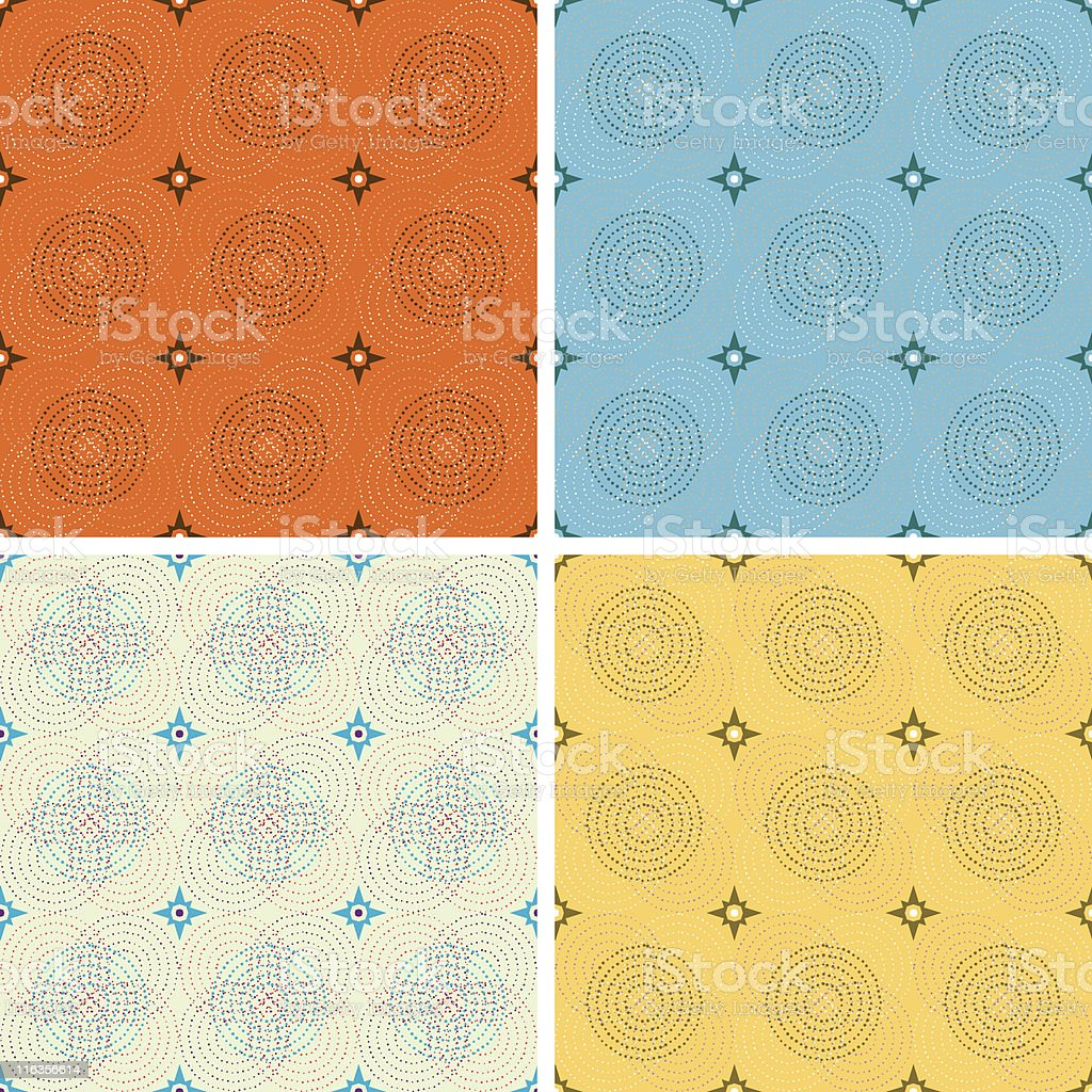 2-Credit Circular Funk Pattern (Seamless) royalty-free 2credit circular funk pattern stock vector art & more images of backgrounds