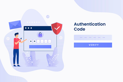 2-Step Verification illustration flat design. Illustration for websites, landing pages, mobile applications, posters and banners.