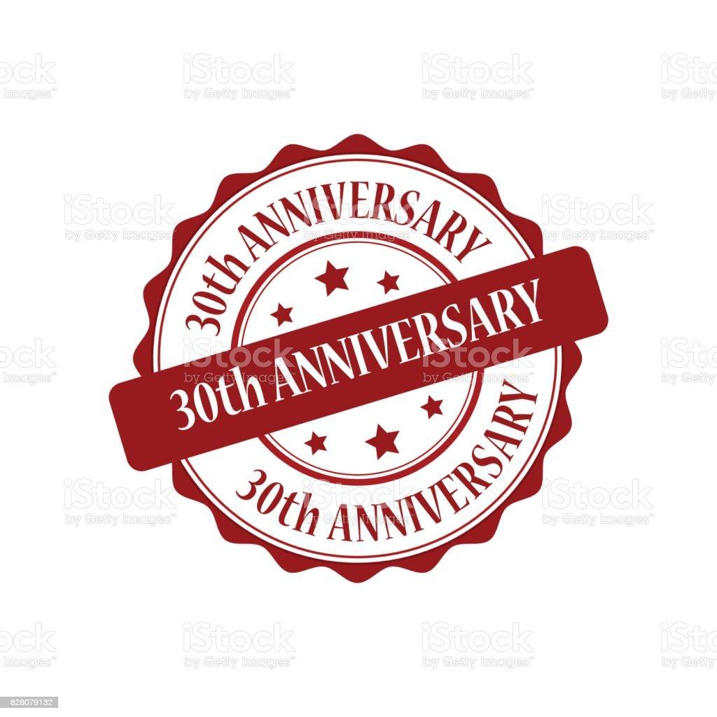 30e Verjaardag Rode Stempel Afbeelding Stockvectorkunst En Meer