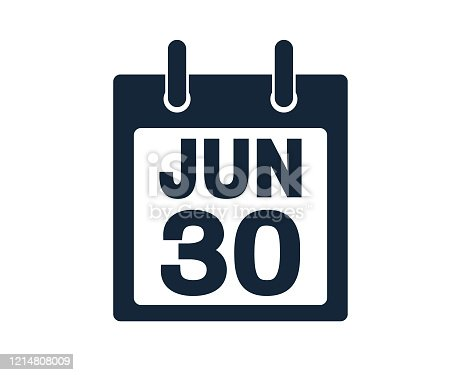 June thirteenth calendar date icon stock vector illustration