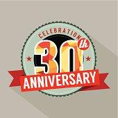 30th Years Anniversary Celebration Design