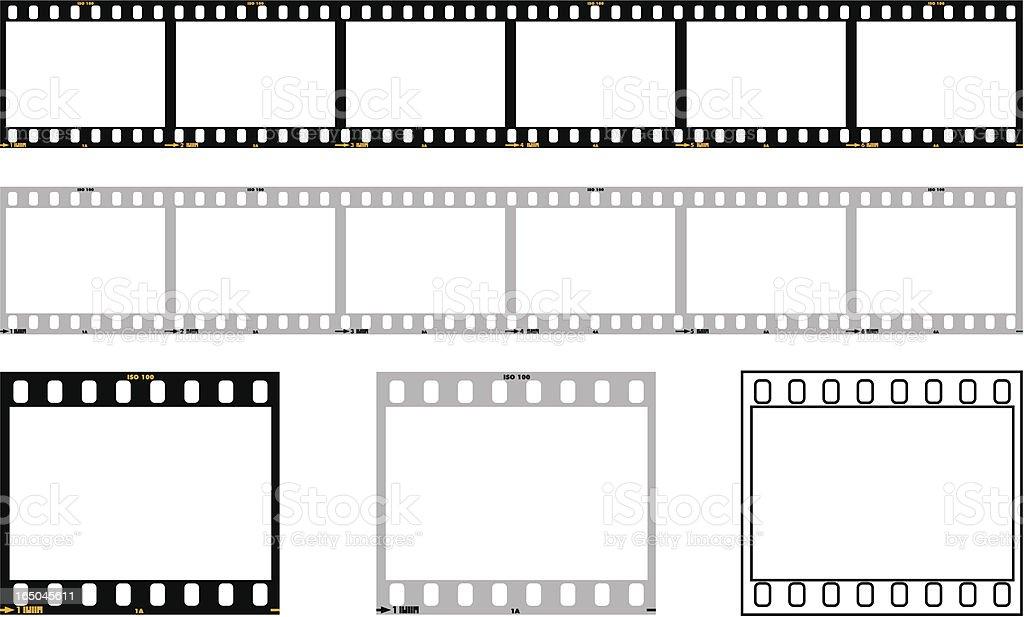 35mm film strip vector art illustration