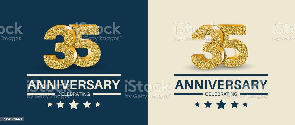 35e Verjaardag Vieren Kaarten Sjabloon 35 Jaar Jubileum Banner