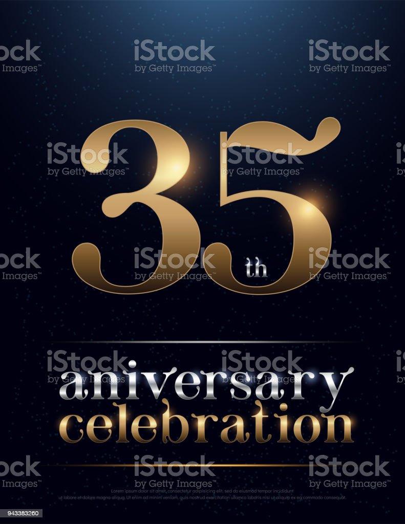 35e Verjaardag Viering Gekleurde Metaal Chroom Alfabet Elegante